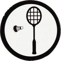 silhouette badminton racket zwart/wit 25 mm 20 stuks