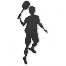 silhouette badminton speler zwart 40 x 90 mm 10 stuks