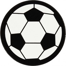 silhouette voetbal zwart/wit 25 mm 20 stuks
