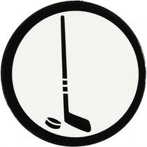 silhouette hockey stick zwart/wit 25 mm 20 stuks