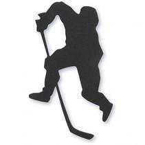 silhouette ijshockey speler zwart 54 x 64 mm 10 stuks
