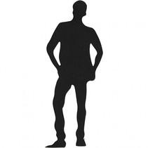 silhouette jongen zwart 35 x 80 mm 10 stuks