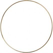 metalen draadring 3 mm goud 20 cm per stuk