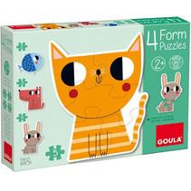 vormpuzzel dieren junior karton 14-delig