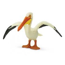 pelikaan junior 7 cm rubber zwart/wit/oranje