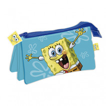 etui Spongebob junior 21 x 11 cm polyester lichtblauw