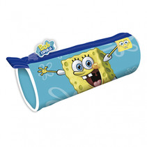 etui Spongebob junior 21 x 7,5 cm polyester lichtblauw