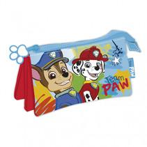 etui Paw Patrol junior 21 x 11 cm polyester lichtblauw