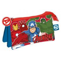 etui Avengers junior 21 x 11 cm polyester rood/blauw