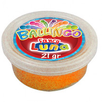 glitterkneeddeeg Ballingo junior 21 gram oranje