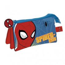 etui Spider-Man junior 21 x 11 cm polyester blauw