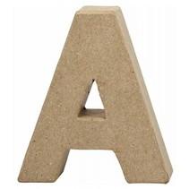 letter A papier-mâché 10 cm