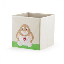 speelgoedkist Konijn Oliviero 35 liter hout blank/grijs