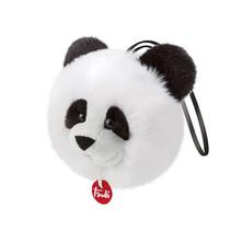 knuffel Charm panda 10 cm zwart/wit