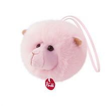knuffel Charm lama 10 cm roze