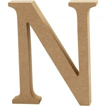 letter N MDF 13 cm