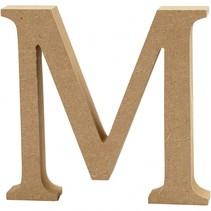 letter M MDF 13 cm