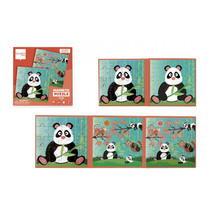 magnetisch puzzelboek Panda 18 cm karton 2 stuks