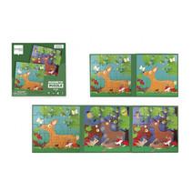magnetisch puzzelboek Bosdieren 18 cm karton 2 stuks