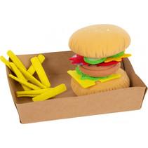 hamburgerset met friet junior 10 cm vilt 10-delig