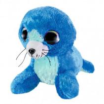 knuffel Seal Sea junior 15 cm pluche blauw