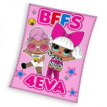 fleecedeken BFF meisjes 110 x 140 cm fleece roze