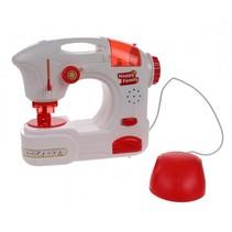 speelgoed naaimachine junior rood/wit 16 cm