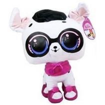 knuffel Let's Be Friends! 25 cm wit/zwart/roze
