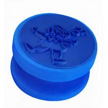 stempel Piet junior 4 x 4 cm siliconen blauw
