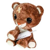 knuffelbeer met spuit junior 15 cm pluche bruin/wit