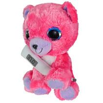 knuffelbeer met thermometer junior 15 cm pluche roze