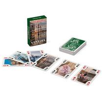 speelkaarten Mini Venezia 50 x 80 mm groen 55-delig