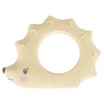 bijtring egel junior 9 cm rubber beige