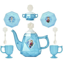 theeservies Frozen II meisjes blauw/wit 10-delig