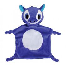 knuffeldoekje Baby Line Unicorn blauw 20 x 30 cm