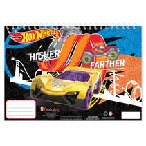 schetsboek Hot Wheels 22 x 33 cm papier geel/paars