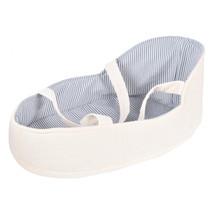 draagwiegje babypop 18 x 28 cm polyester wit/blauw