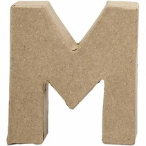 letter M papier-mâché 10 cm