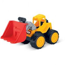 bulldozer junior 35 x 19 x 21,5 cm geel/rood