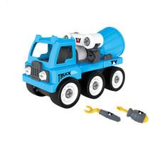 brandweerauto met gereedschap 35 x 19 x 13 cm blauw