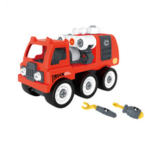 brandweerauto met gereedschap 35 x 19 x 13 cm rood