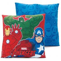 hoofdkussen Avengers junior 40 cm textiel rood/blauw
