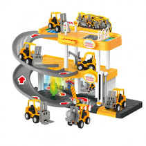parkeergarage bouwvoertuigen junior 40,5 x 7,5 x 28 cm geel