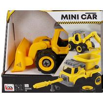 bulldozer Toy Bricks jongens 12 cm zwart/geel