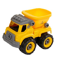 kiepwagen jongens 12 cm geel/zwart