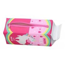etui Unicorn roze 20 x 7,5 cm