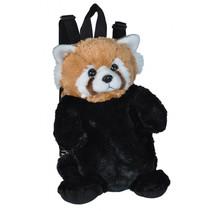 rugzak rode panda junior 2,7 liter pluche zwart/bruin