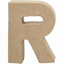 letter R papier-mâché 10 cm