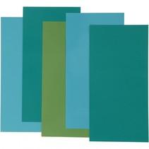decoratiefolie blauw/groen 10 x 20 cm 5 stuks