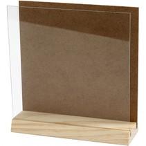 3D-plaat MDF/hout/glas 15 cm bruin/blank per stuk